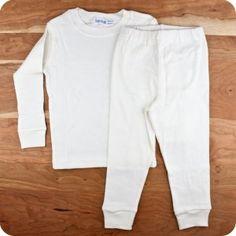 Under the Nile Baby Organic Cotton Long Underwear Set Palumba, $24