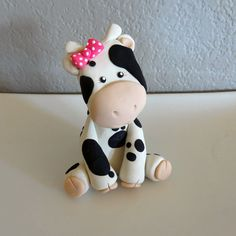 Custom Cow Cake Topper for Birthday or Baby Shower by carlyace, $16.95