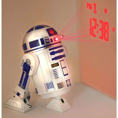The R2D2 Alarm Clock Projects the Time onto a Nearby Surface #robots trendhunter.com