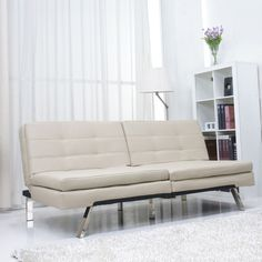 Memphis Sand Double Cushion Futon Sofa Bed - Overstock™ Shopping - Great Deals on Sofas & Loveseats