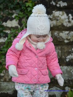 Knitting patterns for Frosty Morning Earflap Hat, Cowl, Mittens set for children and toddlers