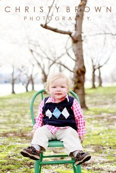 Easter Photo Shoot! so cute! - love the farm house chair
