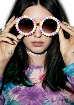 Rad and Refined Candyland Sunglasses are perfect for a sweetheart like you,  bb~! 5c73c2f300