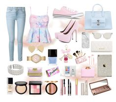 """Cotton Candy Skys"" by warmingtontr ❤ liked on Polyvore featuring Frame Denim, Converse, AX Paris, Balenciaga, Kate Spade, John Lewis, Michael Kors, Butter London, Lumière and Bobbi Brown Cosmetics"