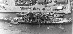 The battleship Oklahoma & the USS Wisconsin at Pearl Harbor.  -Pre Dec.7th 1941.