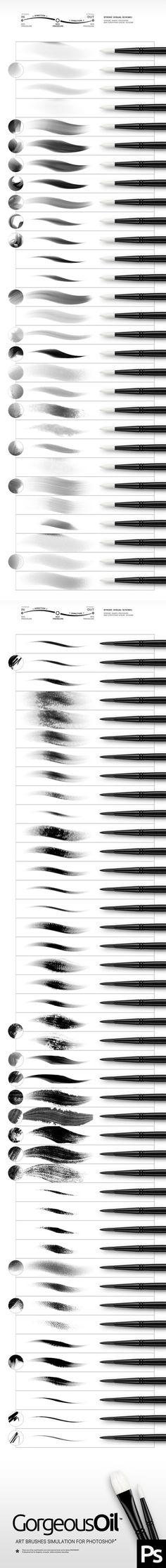 Oil Photoshop Brushes. Download here: http://graphicriver.net/item/oil-brushes/15815729?ref=ksioks