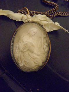 St. Madeleine ll (Roman Catholic saint) meerschaum repurposed necklace on Etsy.