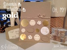 Foxes & Sloths & Gold, OH MY! - AWW Dec | Jane Lee http://janeleescards.blogspot.com