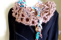 Llama Scarf Shrug Hand Knit with Hand Spun Art by ladypainswick, $32.00
