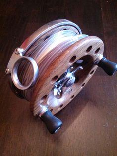 Seaspey concept reel in Teak and stainless steel