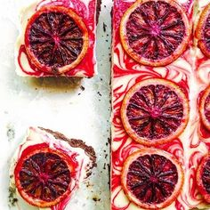 Thinking it's about time I make another batch of these blood orange cheesecake brownies. These are a perfect dessert for holiday parties (they're also grain-free, dairy-free & vegan)