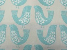 iLiv Scandi Birds mustard cotton curtain and upholstery fabric available from our iLiv fabric collection in our online fabric shop or fabric warehouse in Northamptonshire.