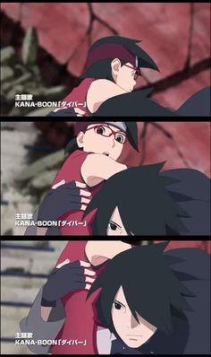 Boruto The Movie - Sasuke saving Sarada