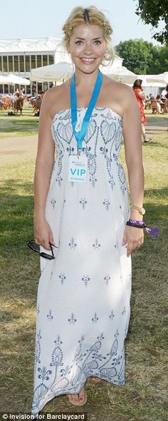 Holly Willoughby: maxi dress
