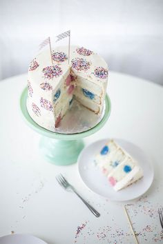 Polka Dot Inside-And-Out Birthday Cake | by Lyndsay Sung for Handmade Charlotte