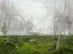 land art park conceived to generate wind energy in denmark - designboom | architecture
