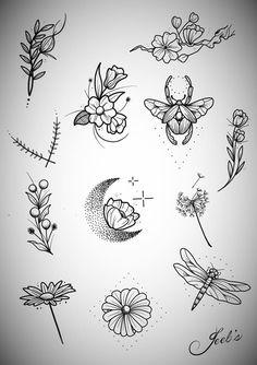 Tattoos And Body Art tatoo flash Mini Tattoos, Flower Tattoos, Body Art Tattoos, Small Tattoos, Cool Tattoos, Tatoos, Flash Tattoos, Illustration Tattoo, Handpoked Tattoo