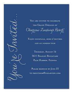 Simply Elegant - Corporate Invitations by Invitation Consultants. (IC-RLP-1680 )