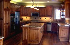 #LGLimitlessDesign  #Contest Stained Knotty Alder Standard Overlay Style Kitchen With Raised Panel