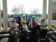 The ladies of Arbour Square showing off their hand crafted Kentucky Derby Hats!