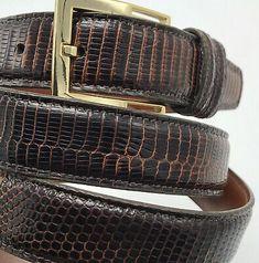 Tuttle Genuine Lizard Belt & Buckle 44 110 Dark Brown Exotic Handmade in the USA Man Clothes, Belt Buckles, Louis Vuitton Damier, Dark Brown, Exotic, Usa, Best Deals, Handmade, Bags