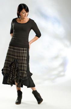 Lousje & Bean's Ruffle Skirt with Simple Scoop El naturalista shoes www.lousjeandbean.ca #canadianmade #shoplocal #lousjeandbean #elnaturalistashoes