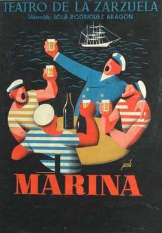 Manolo Prieto. Marina. 1958