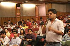 Jamboree India Students interacting with Mr.A.M Kannan - Head Admissions and Financial, ISB Hyderabad post seminar.
