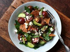 Fattoush {recipe} – Middle Eastern Pita Bread Salad from Herbivoracious