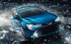 Télécharger fonds d'écran Toyota Corolla Hatchback, rue, 2018 voitures, nouvelle Corolla, japonais, Toyota