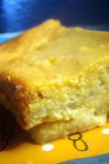 banana clafoutis (custard cake) is spiced nicely with cinnamon and a touch of lemon zest.