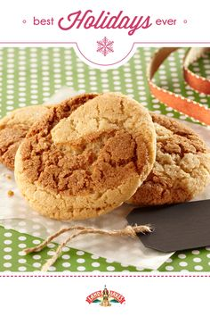 Classic snickerdoodle and gingersnaps combined into one scrumptious holiday cookie.