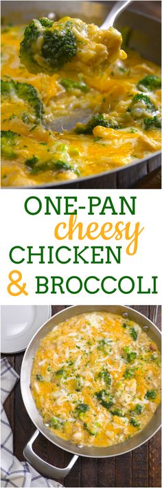 Love cheese but hate doing the dishes? We know what you're making for dinner tonight: one-pan cheesy chicken & broccoli. It's just like a classic chicken and rice casserole, except you'll only have one skillet to clean up after everyone's good and full. And, we threw in favorite healthy green (plus enough melty cheese to please any members of your family who might not be on board with that whole vegetable thing).