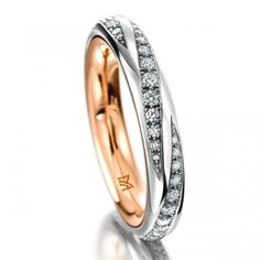MEISTER Rotating Ring 218 - rotating-rings redgold / platinum | MEISTER