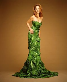 Who'd have thought you could look this good in cabbage? Cabbage Leaf Dress