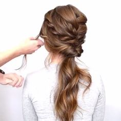 56 Updo Ideas & Tutorials for Wedding - Frisuren - Hochzeitsfrisuren-braided wedding updo-Wedding Hairstyles Pretty Hairstyles, Easy Hairstyles, Hairstyle Ideas, Braided Hairstyles For Long Hair, Simple Hairstyles For Wedding, Easy Wedding Updo, Updos For Fine Hair, Updos With Braids, Disco Hairstyles