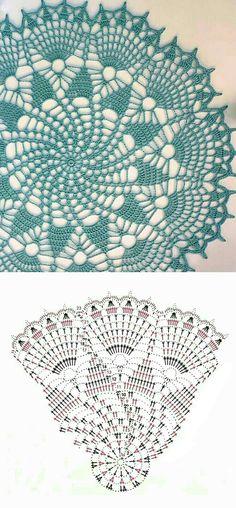 Free Crochet Doily Patterns, Crochet Mandala, Crochet Diagram, Crochet Art, Crochet Motif, Crochet Table Runner, Crochet Tablecloth, Crochet Flower Tutorial, Crochet Flowers