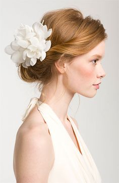 Cara 'Tropical Flower' Hair Clip available at #Nordstrom looks like flowers and feathers compromise may not be avail in purple like