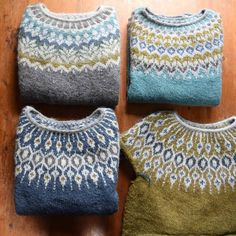 My yarn/palette picture from yesterday reminded me of the color scheme from my Afmaeli (top left). Those colors inspired the color scheme… Fair Isle Knitting, Hand Knitting, Knitting Patterns, Norwegian Knitting, Icelandic Sweaters, Fair Isle Pattern, Casual Winter Outfits, Cool Sweaters, Wool Yarn