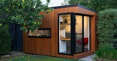 Cooba Project: This contemporary backyard office space imitates a traditional children's tree-house with a modern adult twist Backyard Office, Backyard Studio, Garden Office, Backyard Sheds, Outdoor Sheds, Garden Sheds, Garden Tools, Shed Design, House Design