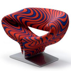 Design Ribbon Chaise Lounge Chair. In talloze kleuren en patronen. Artifort Ribbon Chair