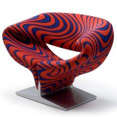 Design Ribbon Chaise Lounge Chair // Pierre Paulin
