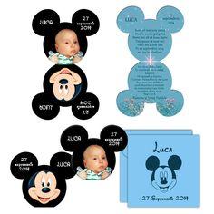 Invitatii Botez Minnie Mickey Mouse, Invitatie Forma Mickey Minnie Mouse, Invitatii Personalizate Cu Fotografie Modele Unicate
