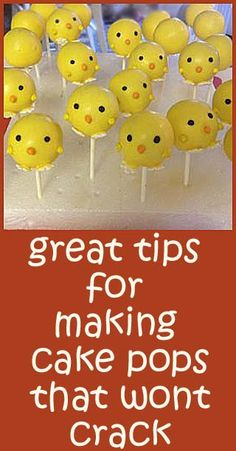 Great tips for making cake pops that wont crack.