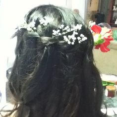 Did my cousin's hair for prom:)