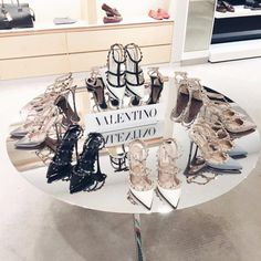 Wheretoget - Valentino studded heels in black, white, baby blue, silver, and nude