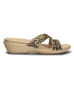 Just ordered these on #zulily! Gold & Black Patricia II Wedge Sandal - Women by Crocs.   Look So comfy - can't wait for them to get here!