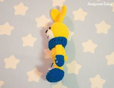 Crochet bunny with snood and mittens - Free pattern by Amigurumi Today