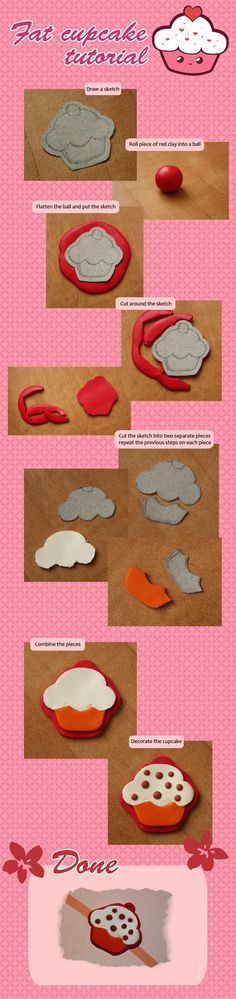 Flat Cupcake Tutorial by ~koshadesing on deviantART