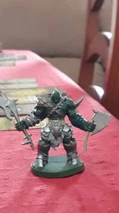 Game ready orc, although he still has a long way to go painting wise. Orc Warrior, Sword And Sorcery, Game, Painting, Home Decor, Decoration Home, Room Decor, Painting Art, Gaming